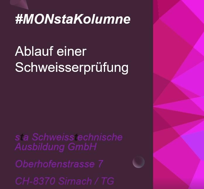 #MONstaKolumne Nummer 1 – Ablauf einer Schweisserprüfung